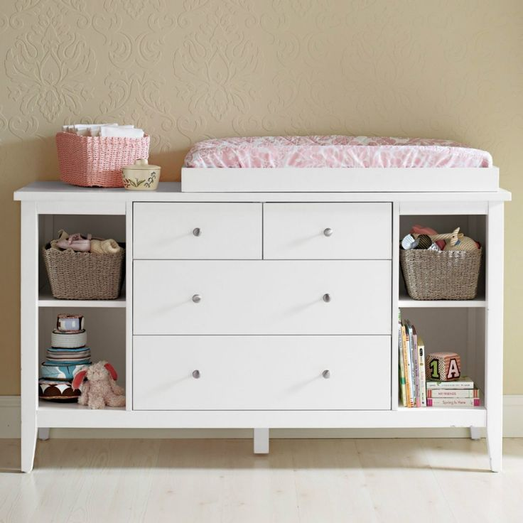 Changing table with drawers